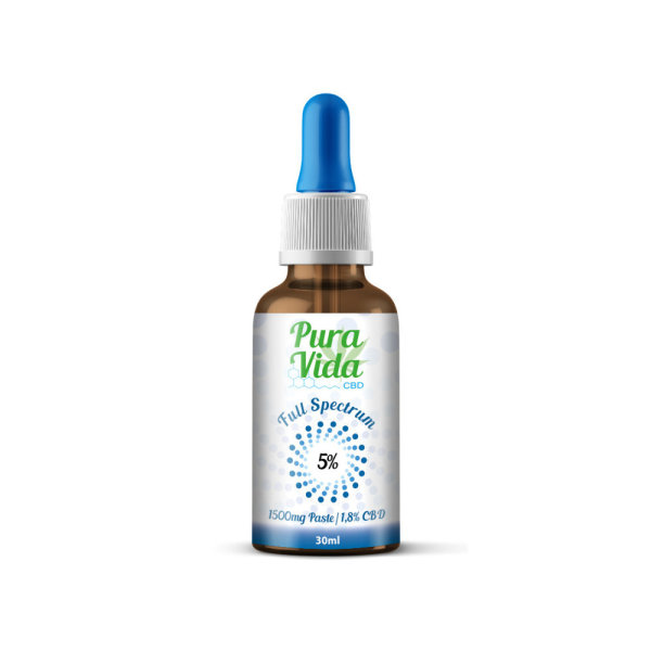 CBD Öl Pura Vida 5% Hemp Oil - 30ml